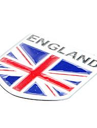 5 * 5cm Motif Drapeau anglais de l'Angleterre emblème aluminium moto bricolage Sticker Decal