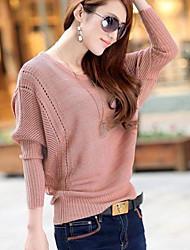 Women's Round Cutout Loose Slim Batwing Knitwear Sweater