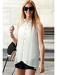 Women's Tops & Blouses , Lace Casual MIT
