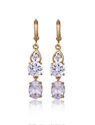 Women's Fashion Unique Design 18K Gold Zircon Earrings