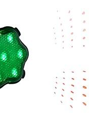 7-Mode 7-LED babysbreath Bike Laser Lamp van de Staart (Groen)
