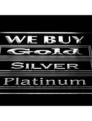 We Buy Gold Silver Platinum Shop Display Advertising Neon Light Sign