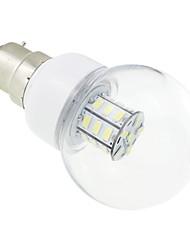 B22 4W 27 SMD 5730 500 LM Cool White G60 LED Globe Bulbs DC 12 / AC 12 / AC 24 / DC 24 V