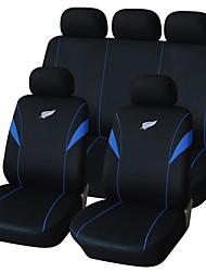 9 PC fijaron los asientos del coche protectores Pluma del diseño del bordado Fit universal Accesorios para automóviles