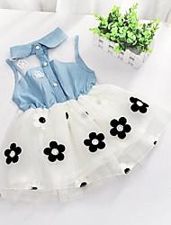 New Girl de bébé d'enfants en bas âge de robe de tutu de fleur Fluffy Parti Kid Enfant Taille 1-5a Hotsale