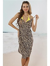 Women's Straped Cover-Ups , Animal Acrylic/Spandex Multi-color