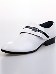 Men's Shoes Wedding/Party & Evening Leather Loafers Black/Brown/White