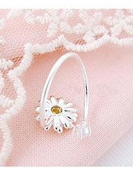 Creative Chrysanthemum Point Drill Opening Ring