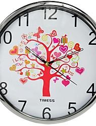 """IMESS ™ 12 """"H Древо жизни художественной концепции металлик Супер Mute настенные часы"""