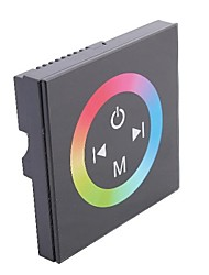 TM08  LED RGB Touch Panel Controller for Single Color LED Strip-Black (DC12-24V Input,Max 4A*3channel Output)