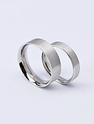 Fashion Steel Colour Titanium Steel Couple Rings