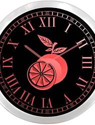 nc0958 anaranjada Tienda de Frutas muestra de neón del LED Reloj de Pared