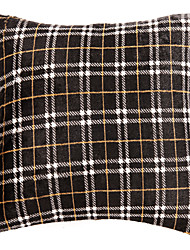 Polyester Pillow Cover , Plaid Traditional/Classic