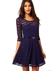 Women's Dresses , Polyester/Spandex Casual RXNC