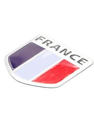 5 * 5 см Франция флаг шаблон Французский Эмблема Алюминий автомобилей DIY стикера этикеты