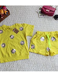 Girl's Cotton Clothing Set , Summer