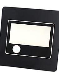 1 COB Light 1.5W PC Black LED Sensor Wall Light IP65 Waterproof