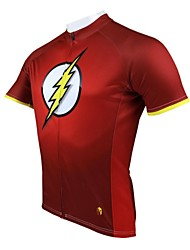 PaladinSport Men's Cycling Jersey Short Sleeve Lightning Spring and Summer Style 100% Polyester