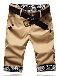 Casual estilo chino pantalones cortos para hombres