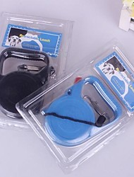 Dog Leash Black / Blue Plastic