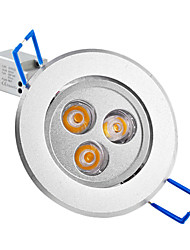 3W LED Recessed Lights / LED Ceiling Lights Recessed Retrofit 3 High Power LED 250 lm Warm White AC 85-265 V