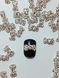 10PCS Embedded Nail Diamond Bowknot decoraciones del arte