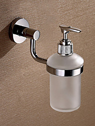 Silver Brass Wall-mounted Liquid Soap Dispenser