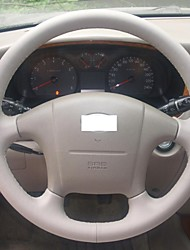 XuJi ™ Black Genuine Leather Steering Wheel Cover for 2004-2008 Hyundai Sonata Sonata 5