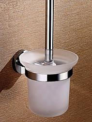 """Držák na WC štětku Vintage mosaz Na ze´d W12.5cm xL15cm xH36cm(W5"""" xL6"""" xH14.5"""") Mosaz Moderní"""