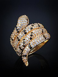 Ring Men's Rhinestone Brass Brass As the Picture The color of embellishments are shown as picture.