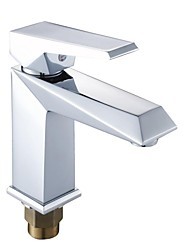 Luxury Diamond Style Hot and Cold Water Brass Bathroom Sink Faucet