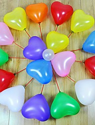 Palloncini a forma di cuore 100pcs Ricorrenze Wedding Birthday Party Decoration Forniture Ballon Partito Decora