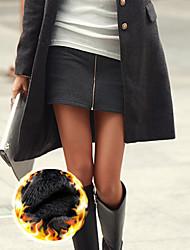 Vestido Hip Mineeor Zipper paquete (gris oscuro)