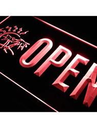 j773 OUVERT Tanning Shop Tan Palmier Neon Light Enregistrez-vous