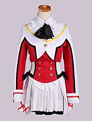Inspired by Love Live Rin Hoshizora Anime Cosplay Costumes Cosplay Suits Patchwork Red Long Sleeve Coat / Vest / Shirt / Skirt / Socks