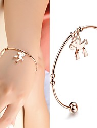 Beautiful Fashion Horse Quality Titanium Plating Rose Gold Bracelet