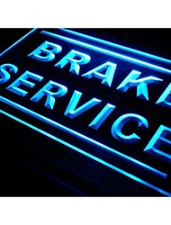 service de frein signe atelier de réparation de voiture néon de lumière