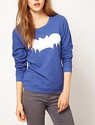 O-cuello de las mujeres de Batman Sudadera Print