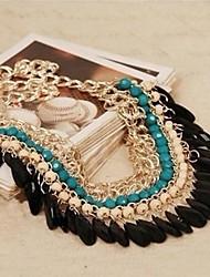 Brigitte lish Women's Bohemia Exotic Wind Tassels Necklace