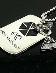 Halloween Props Cosplay Accessories EXO YAO Time Control Hourglass Pattern Alloy Necklace