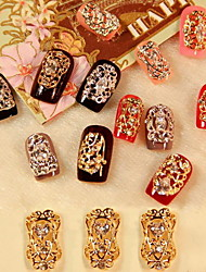 5PCS Zircon Diamond Studded Nail Art Decorations Riches And Honour(Assorted Pattern)
