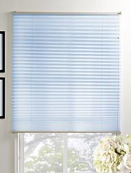 Elegant Blue Solid Eco-friendly Pleated Shade