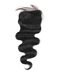 Haute Qualité cheveux brésilien dentelle Fermeture Carrosserie vague 16Inch En stock