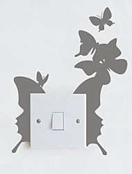 Animals Butterfly Switch Paste Decorative Wall Stickers