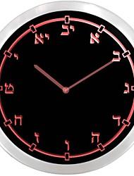 Numéros nc0715 hébreu Temple juif École Néon LED Horloge murale