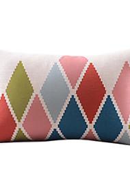 Colorful montagne coton / lin coussin décoratif couverture
