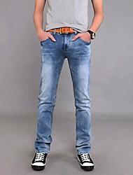 Men's Solid Casual / Work / Formal Jeans,Denim