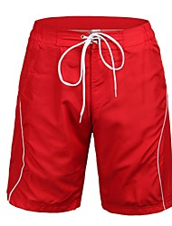 Men's Polyester Red Surf Beach Short
