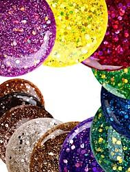 12PCS Glitter Lantejoulas Cor UV Gel