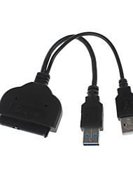 YuanBoTong USB3.0 Man Socket naar SATA poorten Adapterkabel